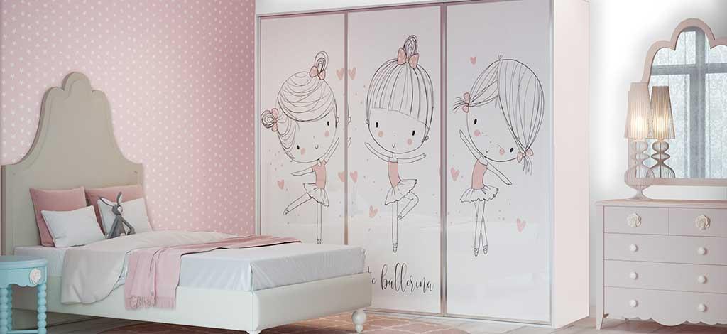 ארון הזזה מעוצב לחדר ילדים