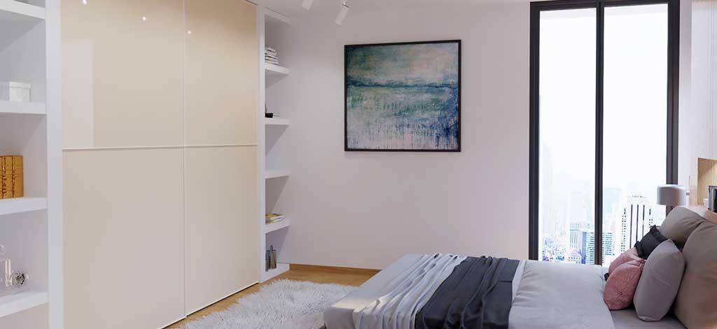 ארון הזזה מעוצב לחדר שינה