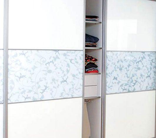 ארון הזזה 2 דלתות לבן ואפור