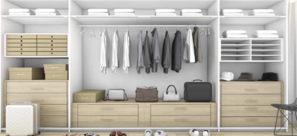 ארון בגדים בעיצוב אלגנטי
