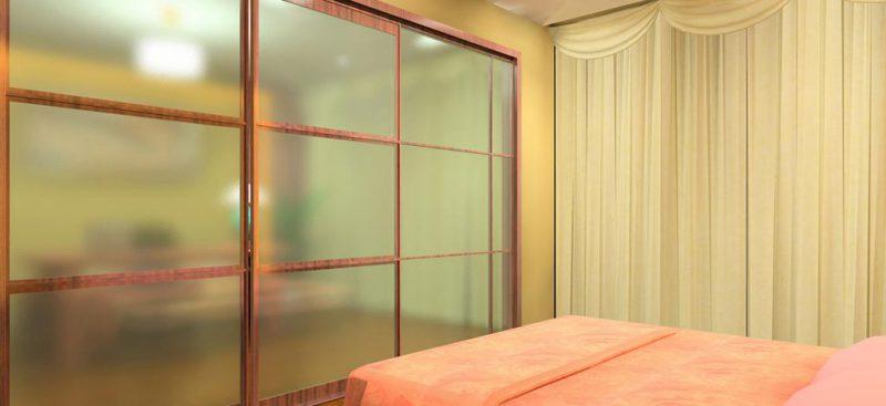 ארון הזזה 3 דלתות משולב זכוכית ועץ