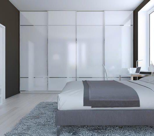 ארונות לחדרי שינה בשילוב זכוכית מודפסת
